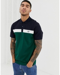 Fred Perry Panel Polo In Green