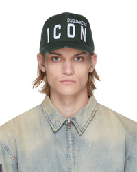 DSQUARED2 Green Be Icon Cap