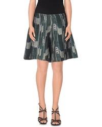 Dark Green Print Bermuda Shorts