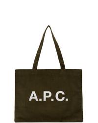 A.P.C. Khaki Diane Shopping Tote