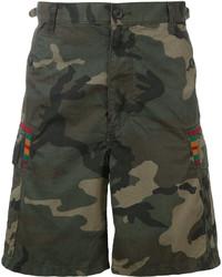 Facetasm Camouflage Print Shorts