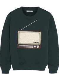 Embroidered cotton jersey sweatshirt medium 345904