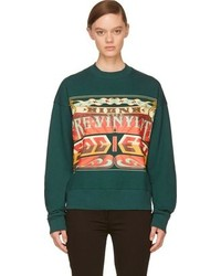 Juun.J Green The Pre Vinylite Society Sweatshirt