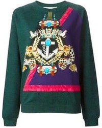 Mary Katrantzou Anchor Badge Sweatshirt