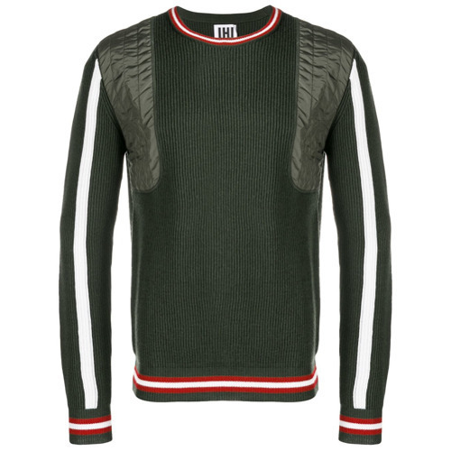 b1d1f598ed $198, Les Hommes Urban Ribbed Knit Panelled Sweater