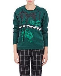 Kenzo Tiger  Bamboo Embroidered Sweatshirt Green
