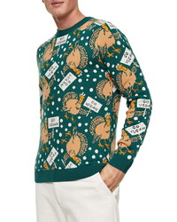Topman Xmas Go Vegan Graphic Sweater