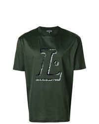 Dark Green Print Crew-neck T-shirt