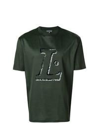 Dark Green Print Crew-neck T-shirt