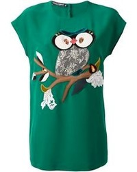 Dolce & Gabbana Owl Patch T Shirt