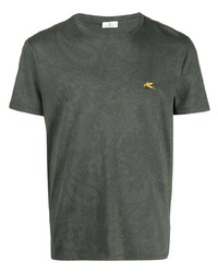 Etro Paisley Print Logo T Shirt