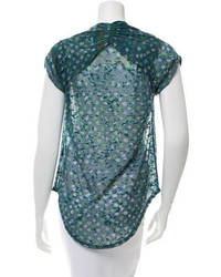 Isabel Marant Short Sleeve Burn Out T Shirt