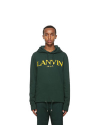 Lanvin Green Logo Hoodie