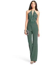 Diane von furstenberg ireland open back silk jumpsuit medium 257170