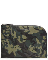 Printed leather pouch medium 3749111