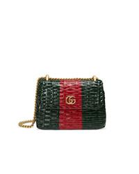 93d51ffd9c8213 Women's Dark Green Leather Crossbody Bags by Gucci | Women's Fashion ...