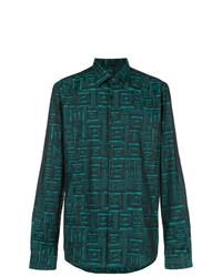 Versace Collection Grecca Print Shirt