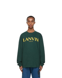 Lanvin Green Long Sleeve T Shirt