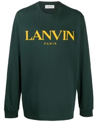 Lanvin Logo Print Long Sleeve Top