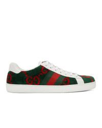 Gucci Green Velvet Gg Sneakers
