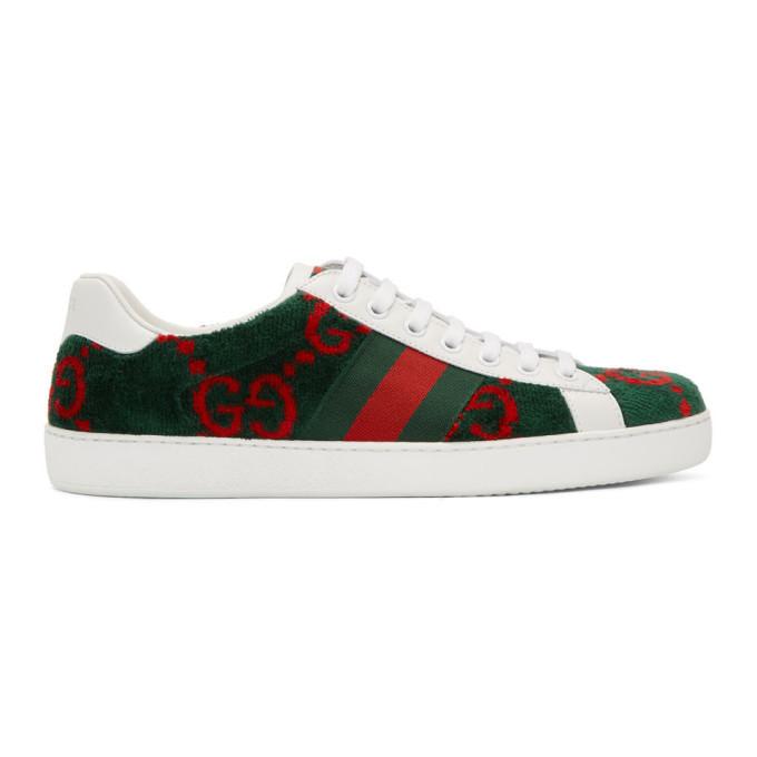 Gucci Green Velvet Gg Sneakers, $600