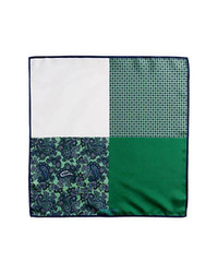 Dark Green Print Pocket Square