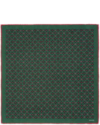 Gucci Geometric Print Silk Pocket Square