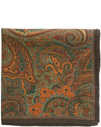Altea Print Paisley Pocket Square Wool
