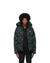Burberry Green Monogram Puffer Down Dalston Jacket
