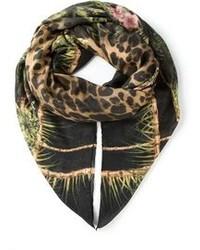 Balmain Leopard Print Scarf