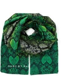 Marc by Marc Jacobs Snake Skin Print Scarf