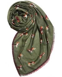 Printed village beagle motif scarf medium 425783