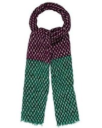Diane von Furstenberg Printed Wool Silk Scarf