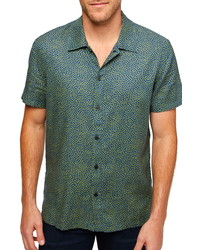 7 For All Mankind Camp Collar Button Up Shirt