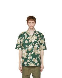 PRESIDENTs Green And Beige Old Lemon Print Rangi Short Sleeve Shirt