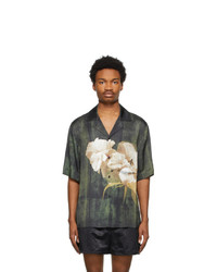 Acne Studios Green Floral Shirt