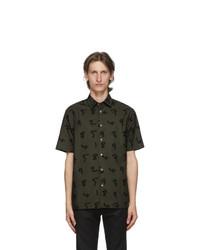Paul Smith Khaki Numbers Short Sleeve Shirt