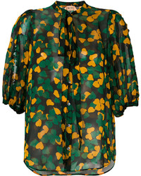 No.21 No21 Clover Leaf Print Blouse