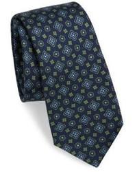 Kiton Medallion Print Silk Tie