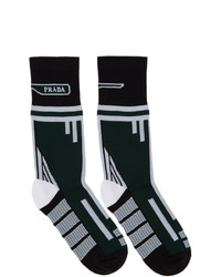 Prada Green And Black Technical Socks