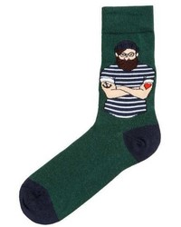 H&M Socks With Intarsia Motif