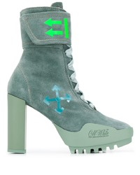 Off-White Lace Up Ankle Boots