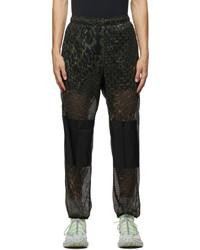 Nike Black Green Dri Fit Happy Arachnid Lounge Pants