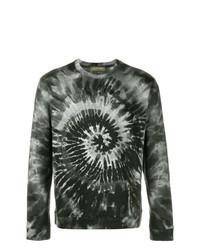 Dark Green Print Sweatshirt