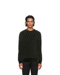 Fendi Green Velour Forever Sweatshirt