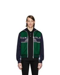 Versace Green And Navy Medusa Track Jacket