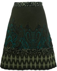 Etro Intarsia Knitted A Line Skirt