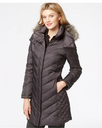 Kenneth Cole Faux Fur Trim Chevron Quilted Down Coat | Where to ... : kenneth cole chevron quilted coat - Adamdwight.com