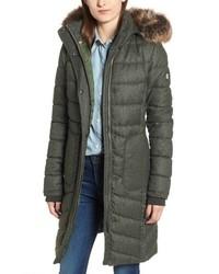 Barbour Foreland Quilt Mix Coat With Detachable Faux