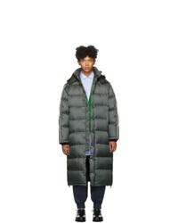 Gucci Green Down Gg Jacquard Coat